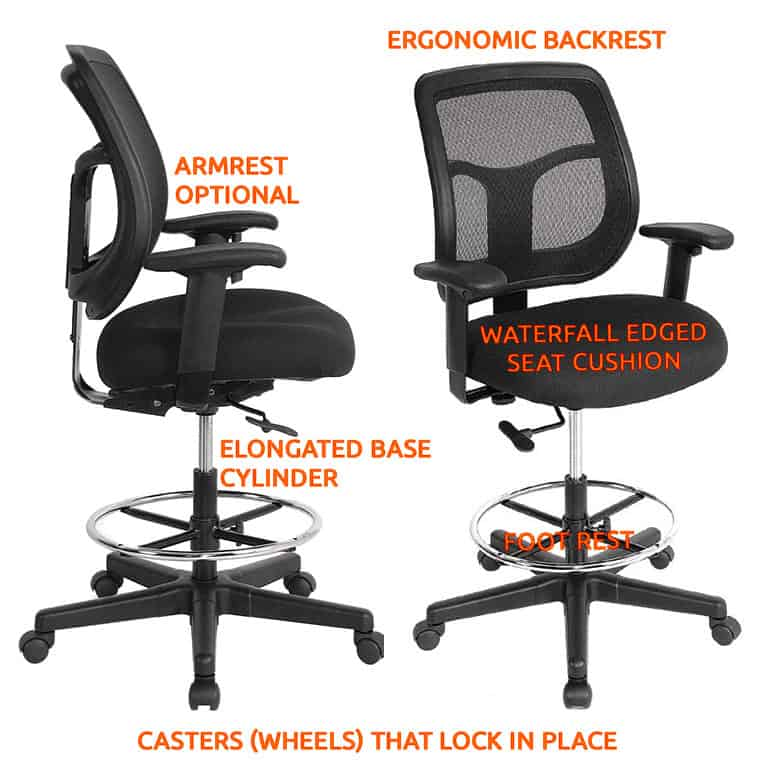 Drafting Chair Features