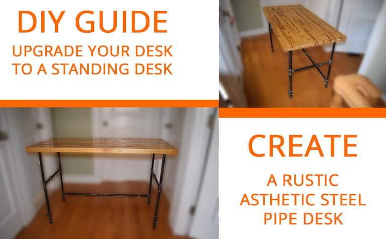 DIY Rustic Steel Pipe Desk Walthrough