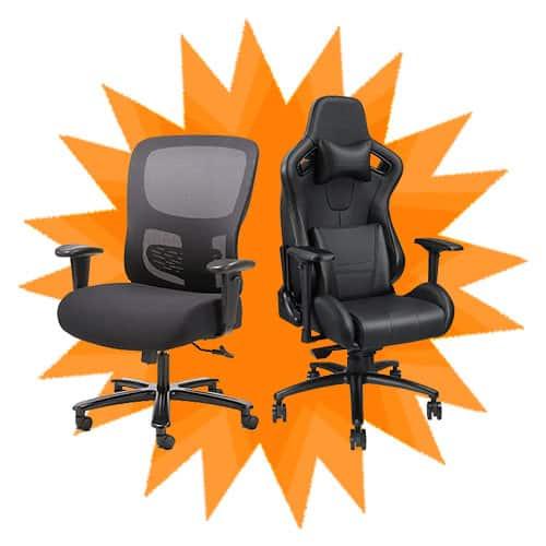 Leather Vs Mesh Office Chiar