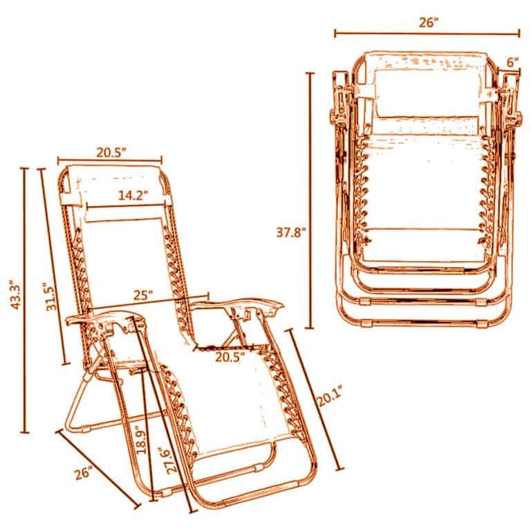 Zero Gravity Chair Specs.