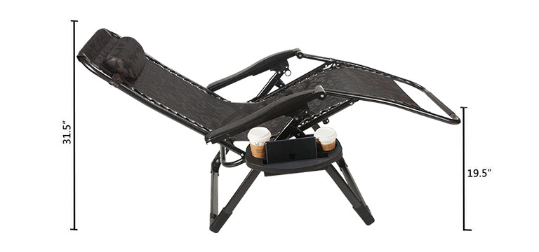 Zero Gravity Chair Size