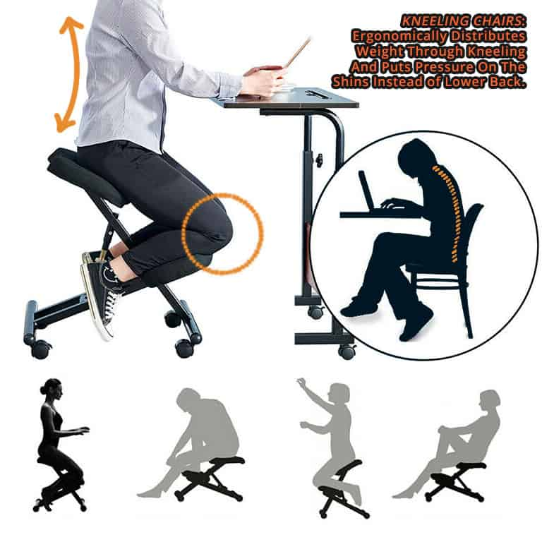 Kneeling Chairs are they any better for your back compared to an ergonomic chair? 2