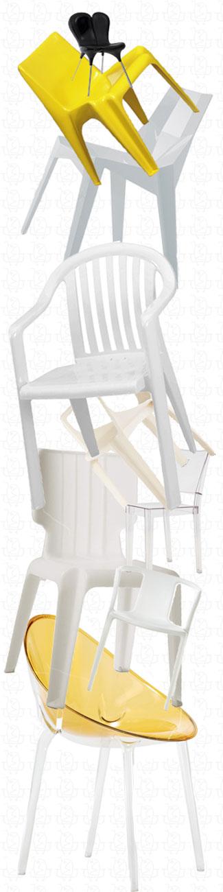 8 Classic Monobloc Chairs