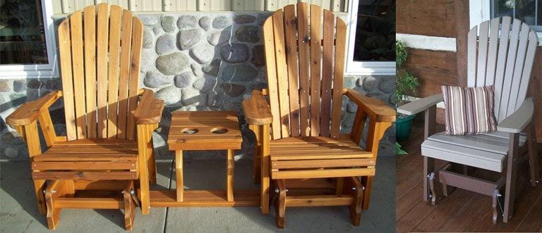 Glider Adirondack Chair